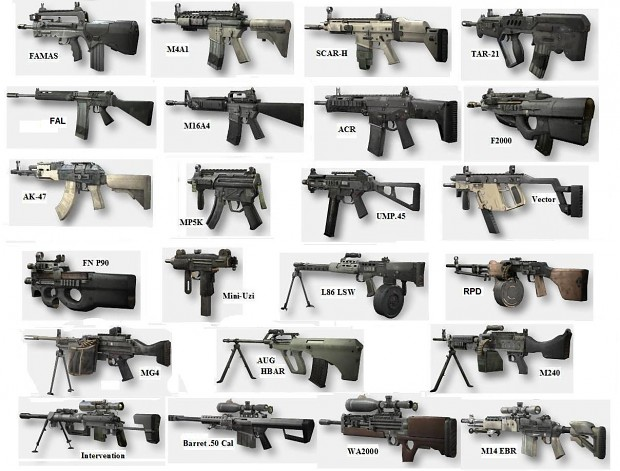 Expected types of guns image - Cry Unknown Game