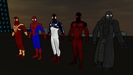 All spidey costumes in game screenshot