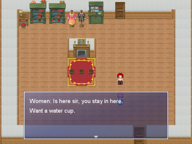 The player talking with a women