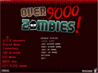 Over 9000 Zombies! Title Screen