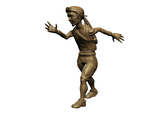 Rendering of the courier character