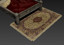 Ornate Rug W/ Bed