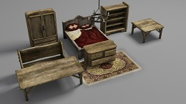 Render of Modeled House Furniture