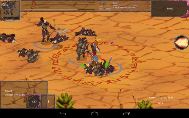 Recent screenshot of Late November Alpha version