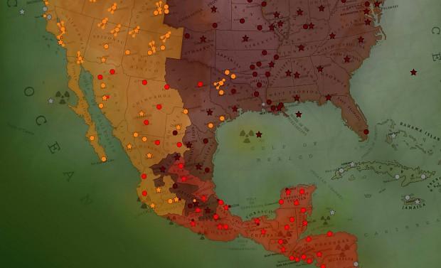 atWar screen shot: Fallout USA Map
