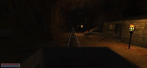 Inside the mine cart!