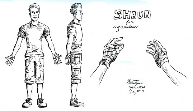 Shaun ( Playable character ) Concept design