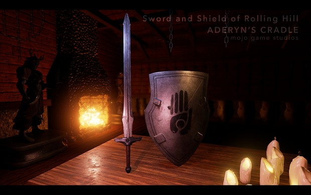 The Sword and Shield of Rolling Hill in-game