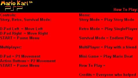 Mario Kart PSP screenshots