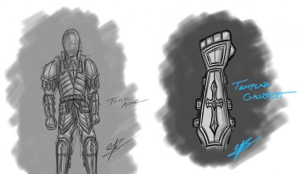 Templar Armor Concept - Rough Sketch
