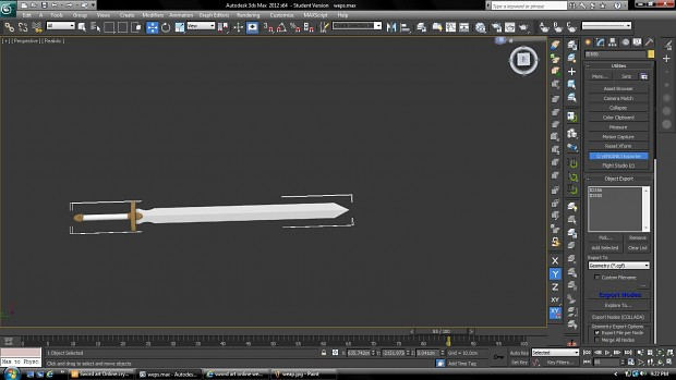 Some weapons modeled in 3d max