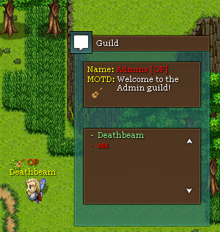 Guilds and Guild menu