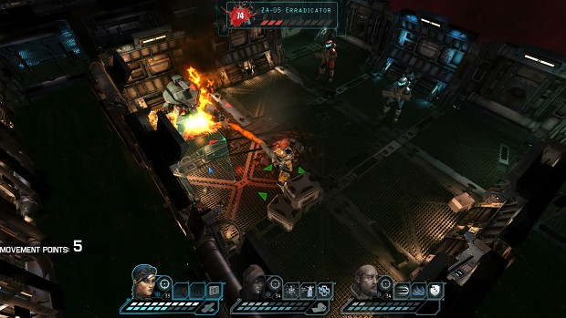 Space Shock Turn-based combat