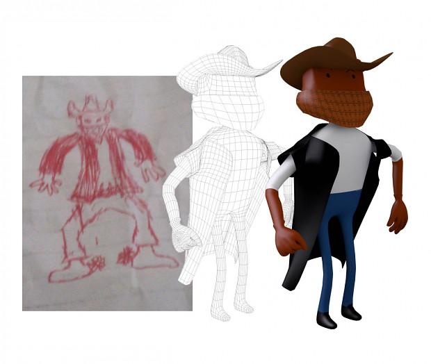 Wild West Showdown Character Concept