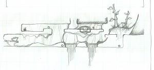Tutorial level concept sketch