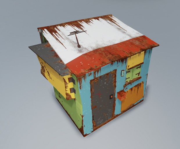 Test Shack with Masked Layers