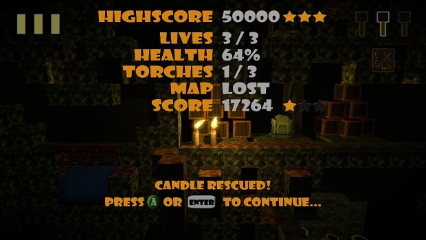 Candlelight - Saved Highscore & Stars...