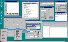 Histacom running Windows 95 applications in 1998