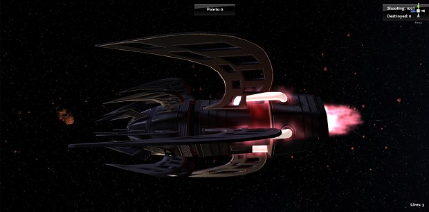 Attacker Starship - Work in Progress 6 of 6
