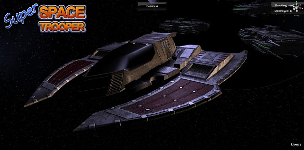 Flatwing Figther Starship - Texturing Almost Done