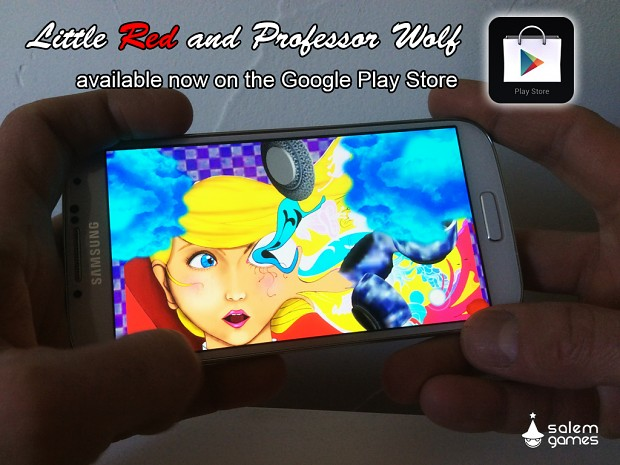 Little Red and Professor Wolf on the Google play store