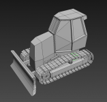 Low Poly Dozer (Basic)