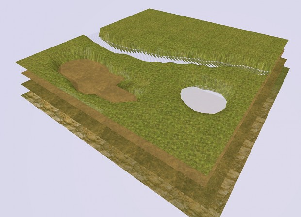 Example of terrain layers