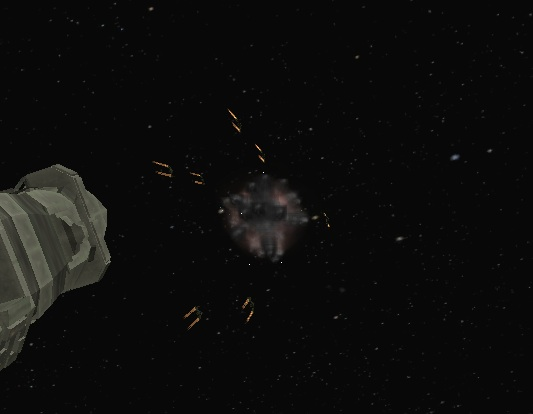 Pulsar First Ship Explosion