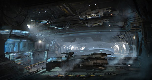 Concept Art - First Look: Asteroid Hanger