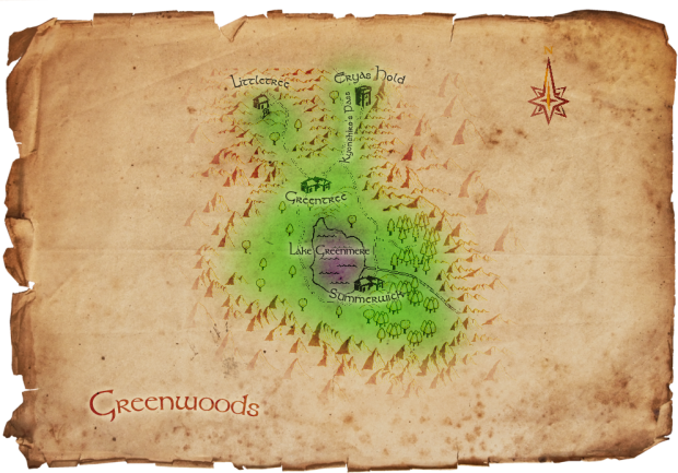 Map of Greenwoods