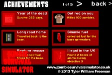 Zombie Survival Simulator - Achievements