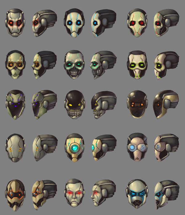 Mechanimus - Face Concepts