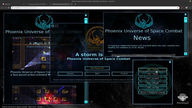 Phoenix USC web portal ready for pre-alpha launch.