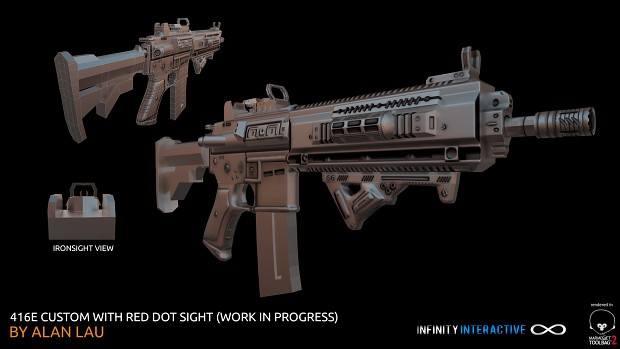 416E rifle update 2 with WMS red dot sight