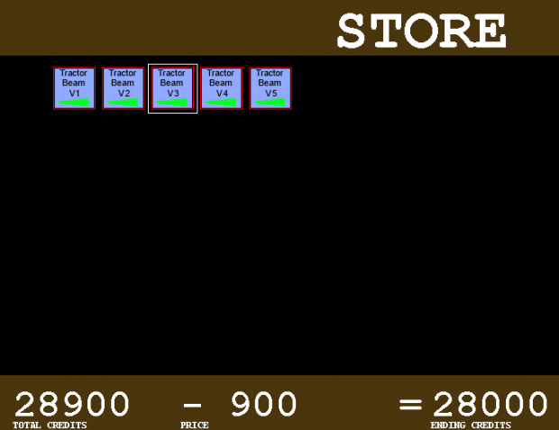 Early shop screen