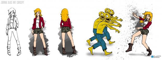 Zombie Slice concept art