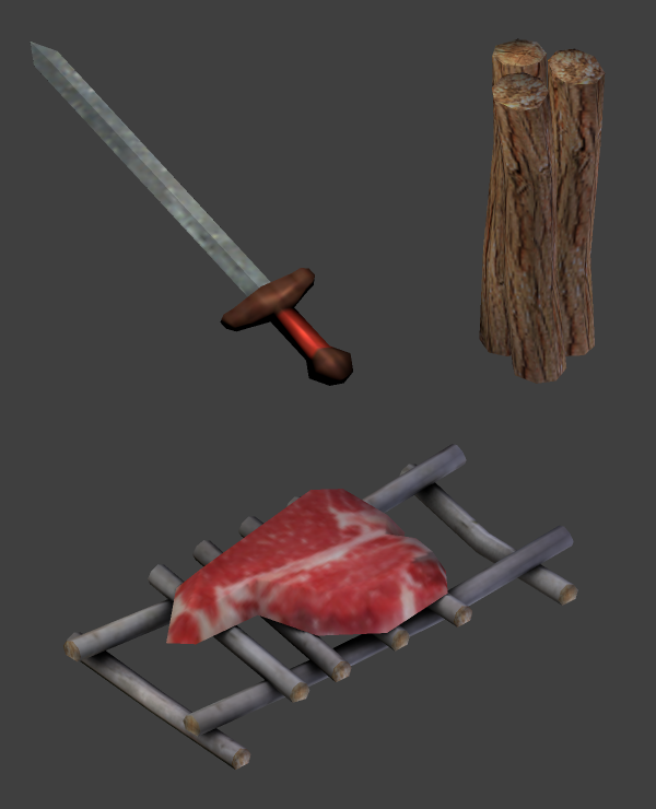 Sword Firewood and Meat