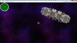 "An actual screenshot of the ""Space Game"" tech demo"
