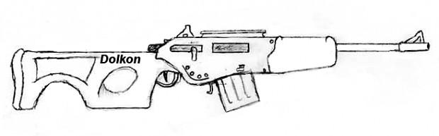 """Dolkon """"Rhino"""" Type-110 Rifle, Concept"""
