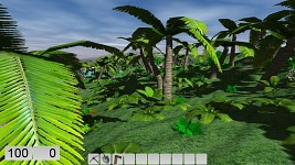Added tropical plants