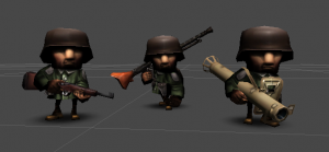 Modeling the first batch of the characters