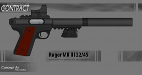 Ruger Mk 3 Suppressed