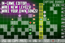 Chiptune Runner - In-game editor!