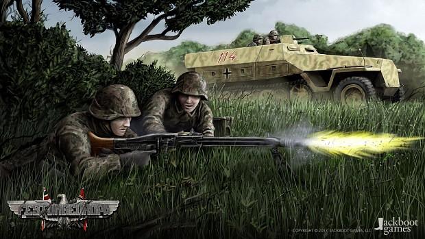 Panzergrenadiere im Angriff