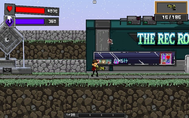 Screens of the game