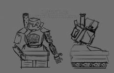 Survival Boss robot rough sketch