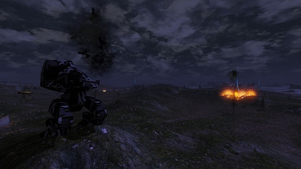 Artillery Missile at night
