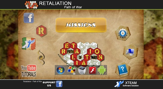 Retaliation Path of War Flash Intro menu