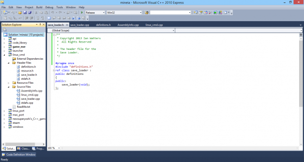 Source code screenshot