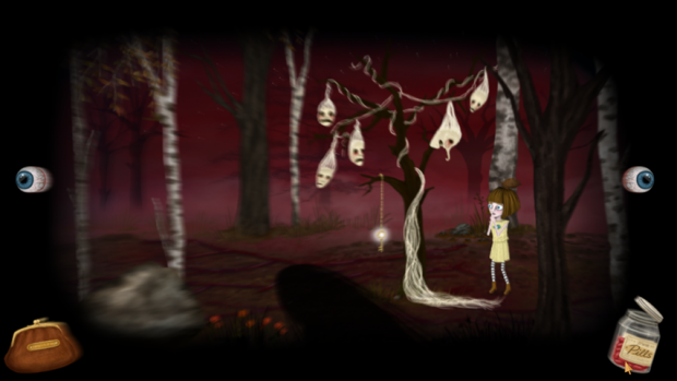 Fran Bow in the woods